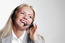 Free Business Woman In A Headset Royalty Free Stock Images - 20546949