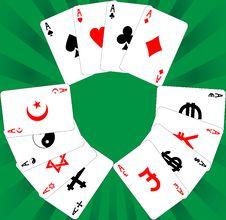Nine Aces Royalty Free Stock Image
