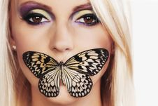 Free Woman With A Butterfly Stock Image - 20547041