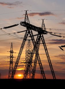 High Voltage Electricity Pylon Royalty Free Stock Image
