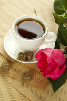Free A Cup Of Tea And Rose Royalty Free Stock Photos - 20547988