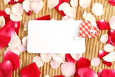 Free Card And Roses Stock Photo - 20548270