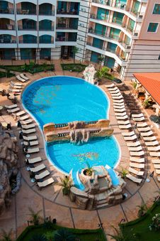 Free Top View On Pool In Hotel Stock Image - 20548371