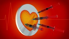 Free Syringes In Heart Royalty Free Stock Photo - 20548415