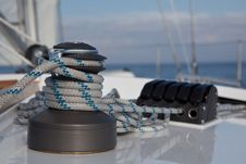 Free Winch On Sailboat Royalty Free Stock Photography - 20548647