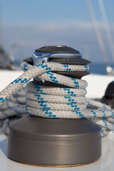 Free Winch On Sailboat Royalty Free Stock Images - 20548649