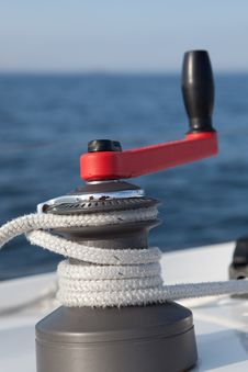 Free Winch On Sailboat Royalty Free Stock Images - 20548659