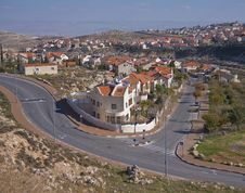 A Picturesque Suburbian Neighbourhood Of Jerusalem Stock Photography