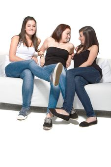 Free Chatting On The Couch Royalty Free Stock Photo - 20549595