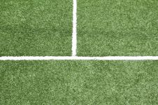 Free Lines On Soccer Field, Royalty Free Stock Photography - 20549677