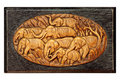 Free Elephant In Wood Carving Thai Style Stock Photography - 20551722