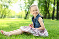 Free Portrait Of A Little Girl In The Park Stock Image - 20553061