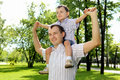 Free Father With His Son In The Park Stock Images - 20553134
