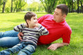 Free Father With His Son In The Park Stock Image - 20553271