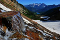 Free Waterfall With Snow Mountains And Lake Stock Photography - 20557302