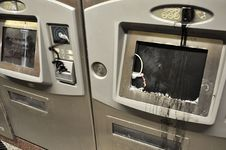 Free Broken ATM Stock Photography - 20550122