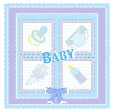 Free Baby Arrival Cards. Boy Royalty Free Stock Photos - 20550458