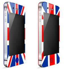 Uk Touch Phone Stock Image