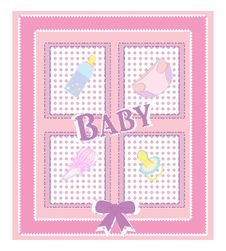 Vector Card For Baby Shower Royalty Free Stock Photography