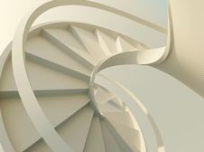 Free White Spiral Staircase Royalty Free Stock Photo - 20550705