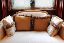 Free Sofa With Pillows By The Window Royalty Free Stock Images - 20550709