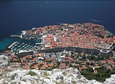 Free Dubrovnik, Croatia - Old Town Bird S Eye View Royalty Free Stock Photo - 20550775