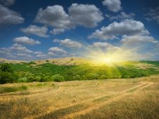Free Sunset In Mountain Stock Photo - 20551260