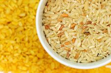 Free Brown Rice And Soybean Stock Photography - 20551332