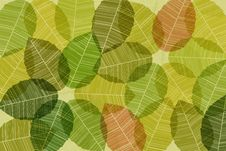 Free Vector Background With Abstract Leaves Royalty Free Stock Images - 20551559