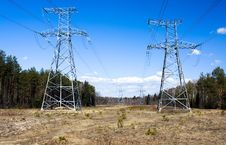Free High-voltage Lines Royalty Free Stock Photography - 20551637