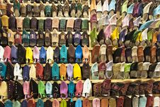 Free Moroccan Shoes Royalty Free Stock Photos - 20551648