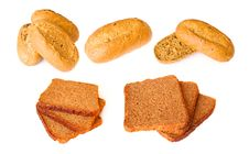Pastry - Fitness Baguette And Wholemeal Bread Royalty Free Stock Photo