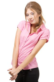 Free Beautiful Lady In Casual Clothing Royalty Free Stock Photography - 20552497