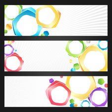 Free Abstract Colorful Banners Set Stock Photography - 20552752