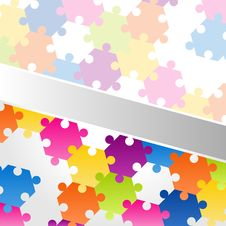 Free Abstract Background Vector Colorful Puzzle Royalty Free Stock Images - 20552759