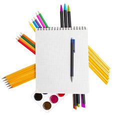 Free School Tools On The White Stock Photography - 20552892
