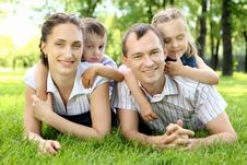 Free Family Together In The Park Stock Photo - 20553110