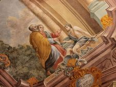 Frescos In Lublin S Cathedral, Lublin, Poland Stock Photo