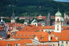Free The Steeples Of Prague Stock Photography - 20554112