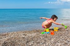 Free Kid On Beach Vacation Royalty Free Stock Photos - 20554858