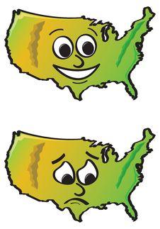 Free Cartoon USA Royalty Free Stock Image - 20555586