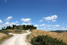 Sky Clouds Hills Of Tuscany Royalty Free Stock Photos