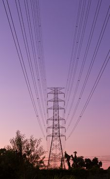 Free Electric High Voltage Power Post Stock Image - 20556351