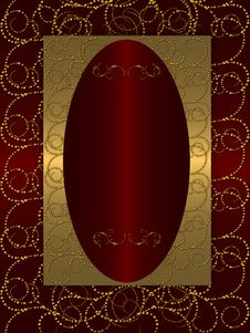 Free Gold With Dark Red Vintage Background Stock Photography - 20556502