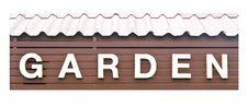 Free The Garden Text Sign Stock Photos - 20556553