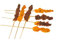 Barbecue Meat, Satay Royalty Free Stock Images