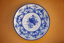 Free Spanish Traditional Ceramic Plate Royalty Free Stock Photography - 20556837