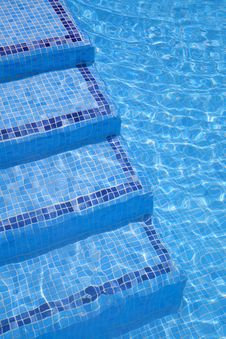 Swimming Pool Stairs Stock Images