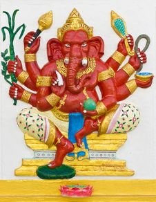 Free Indian Or Hindu God Ganesha Avatar Stock Photo - 20556920