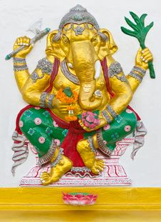 Free Indian Or Hindu God Ganesha Avatar Stock Photography - 20556922